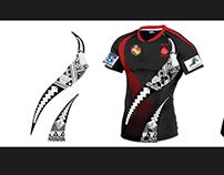 Jersey design, tonga tattoo