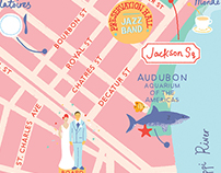 Wedding Map for Martha Stewart Wedding Magazine