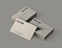 ACNE STUDIOS BUSINESS CARD