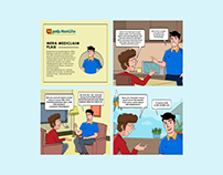 PNB MetLife Comic Strip Designing