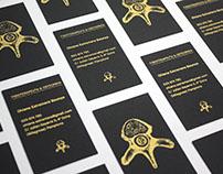 Diseño de tarjetas para fisioterapeuta y osteópata