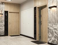 Apartments entrance door