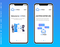 VoiFeed Intro Screens (AI Powered Job App)