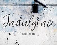 Indulgence Script Font Duo