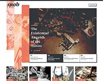 Snob Magazine Website