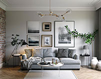 3D rendering Services. The Living Room in Grey