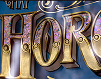HORCHATA: Glass sign