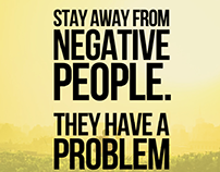 Negative people, daily meditations.