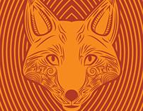 Foxes Line Art Illustration