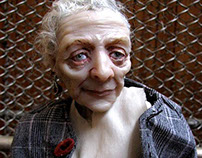 Old lady. Ball jointed doll
