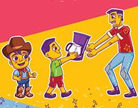 Ilustrações Borges Eletromóveis (Campanha Dia dos Pais)