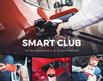 Smart Club Mockups and Stock Photos