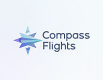 Compass Flights Logo Design