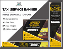 Taxi/Cab Service Banner- HTML5 Ad Templates
