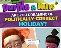 Comic Design: Purple & Nine