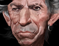 Keith Richards. Caricature