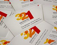 3, 2, 1 Desert Productions Logo & Business Cards