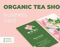 Organic Tea Shop Business Card