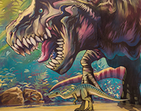 Jurassic World, Trick Art Exhibition, Israel, 2017