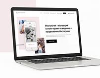 Instalogiya - UI/UX and branding