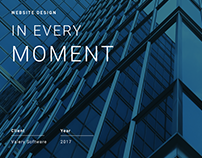 IN EVERY MOMENT - Website Design