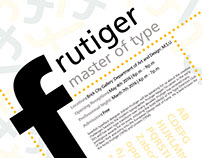 Frutiger Event Poster