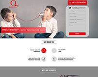 Speech Therapy Landing Page