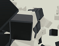 Black and White Cubes Backgrounds Vol2
