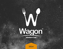 Wagon western bar. Logo & branding