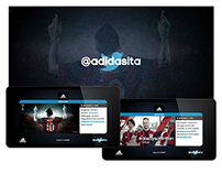 Adidas Italy Digital Twitter Wall