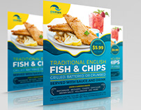 Fish and Chips Restaurant Flyer Template