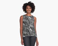 Graphic Statement Textile Print Design
