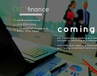 AIC FInance - Coming Soon Page