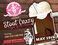 Print - Stout Crazy - Girls Pint Out