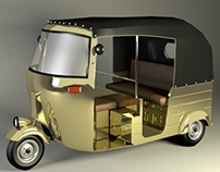 3D Modeling & Rendering Indian Autorickshaw