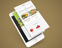 UI/UX design for 'FoodTalk' ios app
