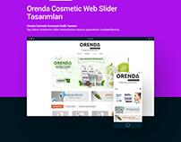 Orenda Cosmetic Slider Tasarımları