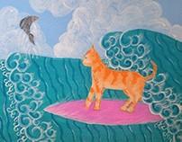 Surf cat