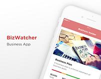 BizWatcher iPhone Application UI Design