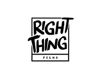 Right Thing Films Branding