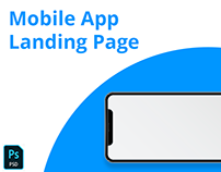 Mobile App Landing Page Template