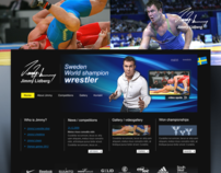 Web design - logo design - Sweden World champion wrestl