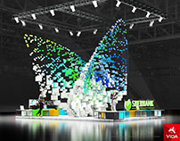 "Exhibition stand for ""Sberbank"" BUTTERFLY"