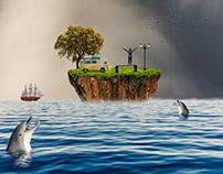Island Picnic - Photo Manipulation