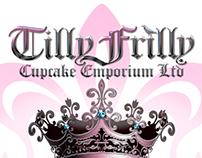 Logo and full branding of cupcake Emporium.