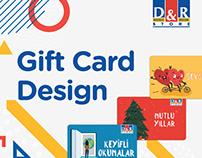 D&R GIFT CARD DESIGN