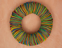Multicolor Felt Wreath