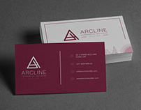 Business Card Design for Arcline Commercial Builders