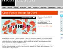 AIGA Boston: Event Identities