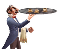 Waiter - 2D Character Animations Pack